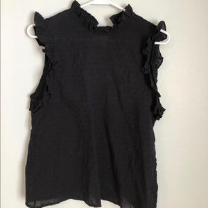 Ruffle tank worn once